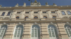Low angle view of Albertina art museum in Vienna Stock Footage