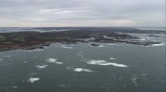 Approaching Newport, Rhode Island. Shot in November 2011. Stock Footage