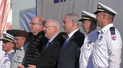 Israeli VIP welcome Rahav Submarine to Navy's Fleet Stock Footage