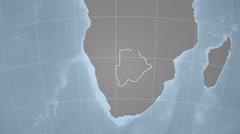 Botswana and Globe. Set of five animations plus matte Stock Footage