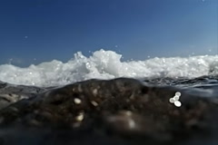 Seething and foaming waves Stock Footage