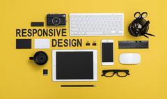 Responsive design hero header Stock Photos