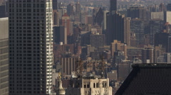 Flying close past skyscrapers in Midtown Manhattan near Empire State Building, Stock Footage