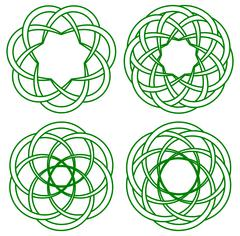 celtic knots - stock illustration