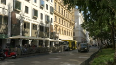 Führichgasse with the Guest House Vienna Stock Footage