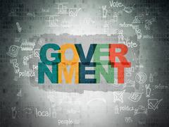 Stock Illustration of Political concept: Government on Digital Paper background