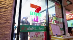 Popular chain of supermarkets in Thailand Stock Footage