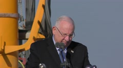 President Reuven Ruvi Rivlin welcomes INS Rahav Stock Footage