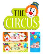 The Circus Banner Set Vector Illustration Stock Illustration