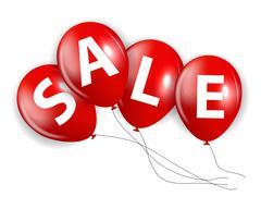 Stock Illustration of Sale Balloon Sign Vector Illustration