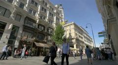 Walking on Kärntner Strasse in Vienna Stock Footage