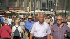 Crowded Stephansplatz in Vienna Stock Footage