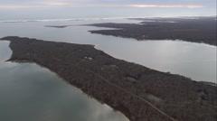 Edgartown Great Pond on Martha's Vineyard, Massachusetts. Shot in November 2011. Stock Footage