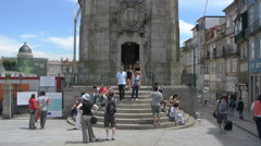 Clerigos tower, symbol of the city of Porto Stock Footage