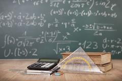 Mathematical lesson - stock photo
