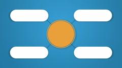 Circle tree diagram for presentation.typo topic box. 4 Stock Footage