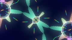 Stock Video Footage of EDM Audio Waveform Kaleidoscope
