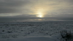 Winter Landscape Timelapse at Sunset  Stock Footage