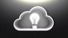 Solved Cloud IT solution service animation (included Alpha) Stock Footage