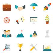 Entrepreneurship Flat Color Icons - stock illustration