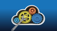 Upgrade and repair Cloud IT solution service animation (included Alpha) Stock Footage