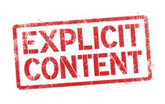 Explicit content Stock Illustration