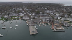 Wide view of Edgartown, Massachusetts. Shot in November 2011. Stock Footage