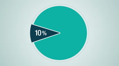 Circle diagram for presentation, Pie chart indicated 10 percent Stock Footage