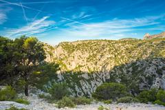 Beautiful nature of Calanques on the azure coast of France. High - stock photo
