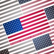 Presidents day background, abstract poster with american flag, vector - stock illustration