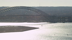 Bayonne Bridge at Bayonne, New Jersey. Shot in 2011. Stock Footage