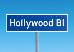 Hollywood Bl sign - stock illustration
