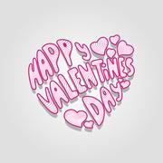 Greeting card for Valentines Day Stock Illustration