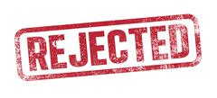 Rejected red ink stamp - stock illustration