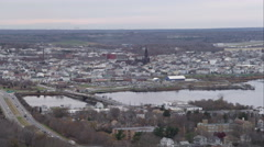 Over New Bedford, Massachusetts. Shot in November 2011. Stock Footage