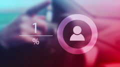 Infographics for female car drivers Stock Footage