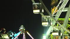 London, UK - December, 16.: Hyde Park, Giant Wheel - stock footage