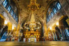 Interior of St. Nicholas Church in Memorial complex Brest Hero Fortress in - stock photo