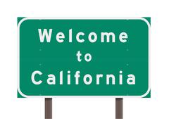 Welcome to California - stock illustration