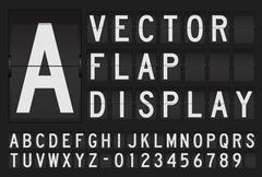 Vector flap display Stock Illustration