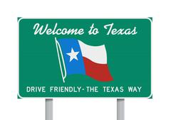 Welcome to Texas road sign Stock Illustration