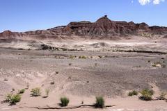 Stock Photo of Rocks in barren landscape erosion US Highway 89 at Cameron Arizona USA North