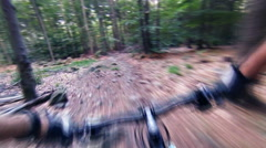 Mountain bike downhill, MTB personal perspective - stock footage