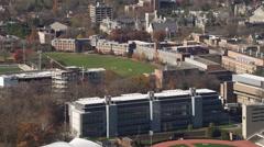 Past Princeton University Stadium in Princeton, New Jersey. Shot in 2011. Stock Footage