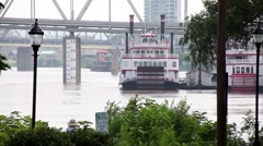 CINCINNATI_PADDLEWHEEL BOAT_1 Stock Footage
