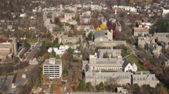 Aerial view of Princeton University, New Jersey. Shot in 2011. Stock Footage