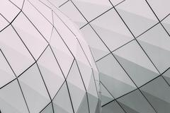 Detail of wall of modern design building Monte-Carlo Pavillions - stock photo