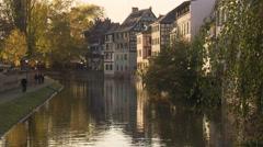 Embankement of Strasbourg Stock Footage