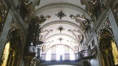 Church organ and church ceiling Arkistovideo