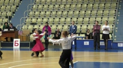 Children compete in sport dancing Stock Footage